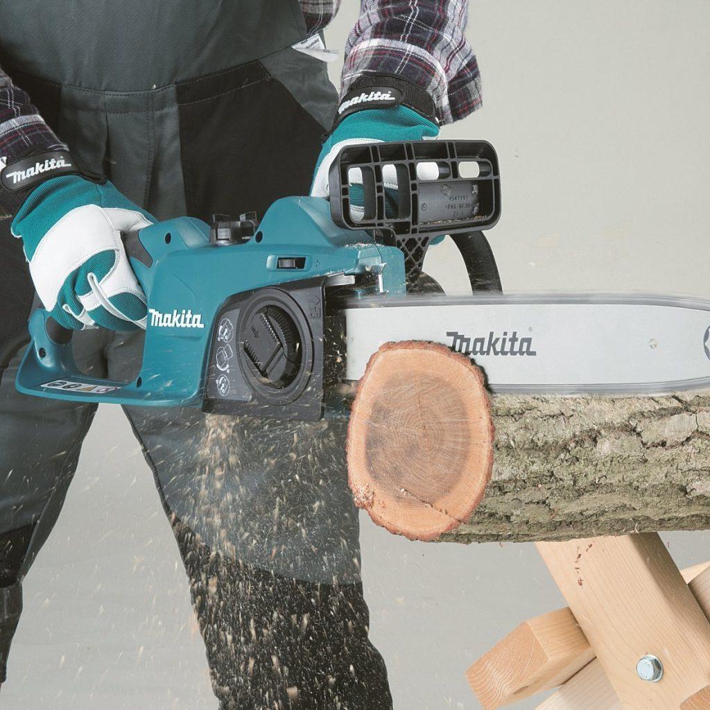 Makita Elektro-Kettensäge - Kräftige Zackenleiste für optimalen Halt im Werkstück