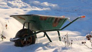 Gartengeräte vor dem Winter sichern