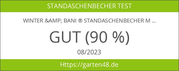 Winter & Bani ® Standaschenbecher Mülleimer - 60 cm x