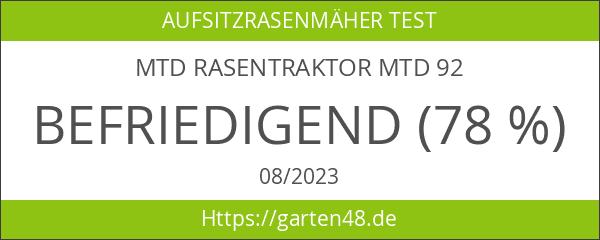 MTD Rasentraktor MTD 92